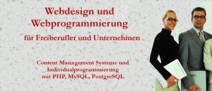 Webdesign und Webprogrammierung für Freiberufler und Unternehmen