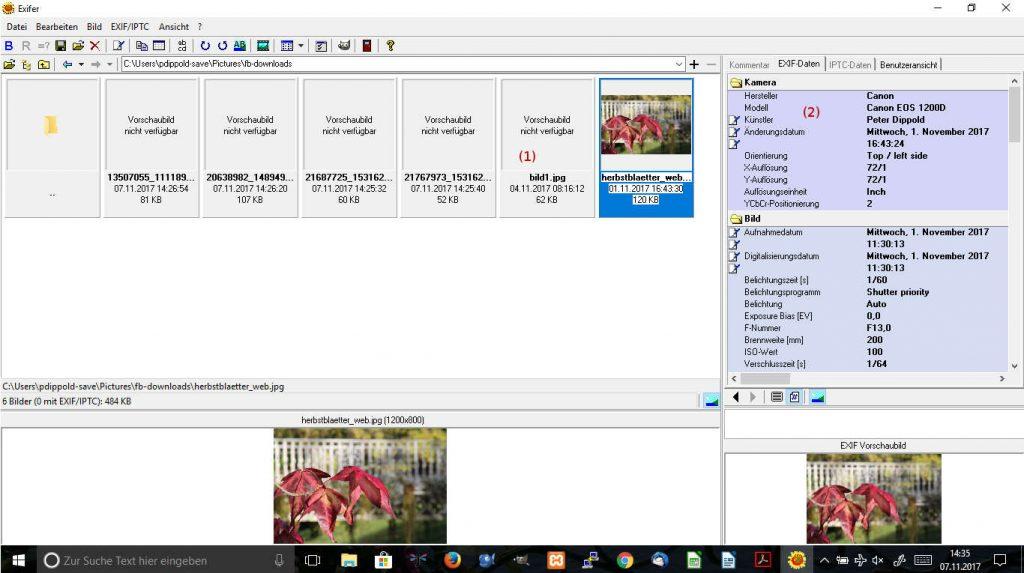Screenshot 1: Vor dem Upload