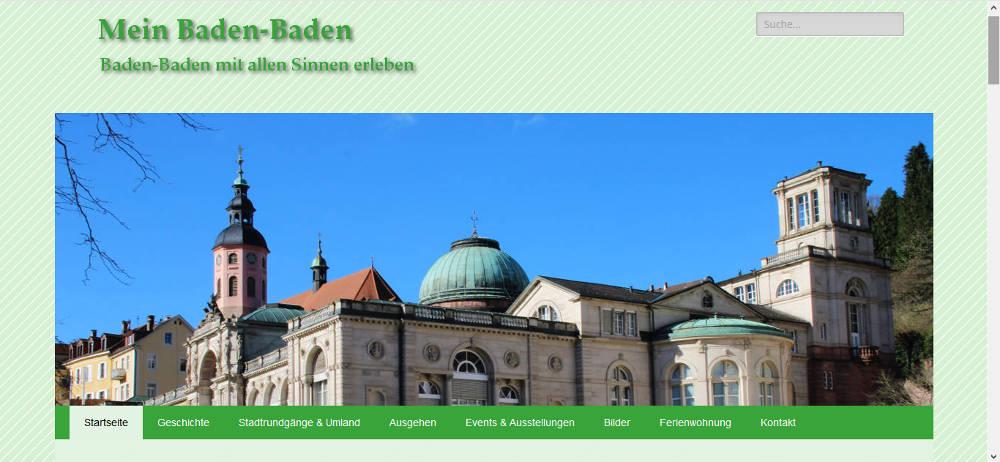 Mein Baden-Baden - Webprojekt